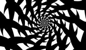 Спираль вектора на белой предпосылке Влияние гипнозом, абстрактная картина иллюстрация штока