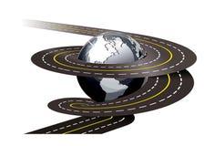 спираль дороги иллюстрации принципиальной схемы иллюстрация вектора