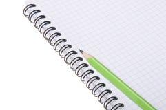 спираль карандаша блокнота Стоковые Фото