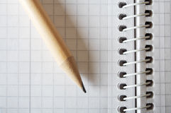 спираль карандаша тетради Стоковое Фото
