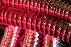 спираль красного цвета металла Стоковое Изображение