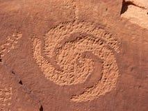 спираль петроглифа Стоковая Фотография RF