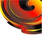 спираль пожара визитной карточки Стоковая Фотография