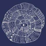 Спираль с абстрактной картиной Стоковое Фото