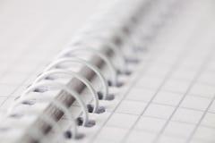 спираль тетради предпосылки Стоковое фото RF