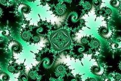 Спираль фрактали зеленая подняла Стоковое Фото