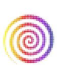 спираль halftone Стоковое фото RF