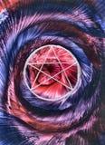 спираль pentagram иллюстрация вектора