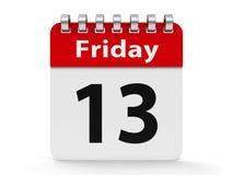 Спираль 13th пятница календаря значка Стоковое Изображение RF