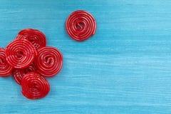 Спирали красной солодки стоковое изображение