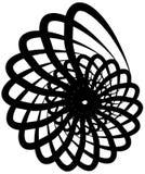 Спиральная волюта, форма улитки, элемент Вращающ, вертясь конспект иллюстрация вектора