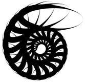 Спиральная волюта, форма улитки, элемент Вращающ, вертясь конспект иллюстрация штока
