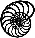 Спиральная волюта, форма улитки, элемент Вращающ, вертясь конспект бесплатная иллюстрация