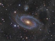 Спиральная галактика более Messier 81 Стоковые Изображения RF