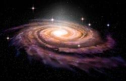 Спиральная галактика в глубоких spcae иллюстрация вектора
