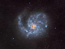 Спиральная галактика в космическом пространстве Стоковые Изображения RF