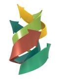 Спиральная предпосылка концепции стрелок Стоковая Фотография RF