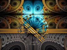 Спиральная предпосылка фрактали - конспект цифров произвел изображение Стоковая Фотография RF
