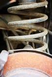 Спиральная пружина автомобиля Стоковая Фотография RF