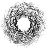 Спирально абстрактный геометрический элемент - художническое monochrome illust иллюстрация вектора