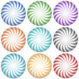 Спирально выравнивает значки starburst абстрактный вектор иллюстрации элементов конструкции col 9 иллюстрация вектора