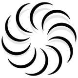 Спирально конструируйте элемент, мотив конспекта геометрический, символ, логотип иллюстрация вектора