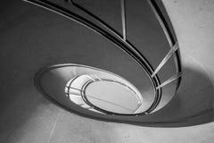 Спиральные лестницы черно-белые Стоковая Фотография