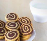 спиральные печенья Стоковые Фотографии RF