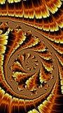 Спиральный орнамент - изображение конспекта цифров произведенное стоковая фотография