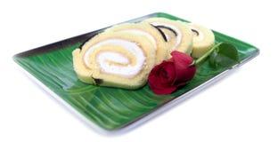 Спиральный торт на плите Стоковые Фотографии RF