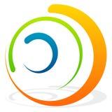 Спиральный элемент с концентрическими кругами Абстрактное декоративное elem Стоковая Фотография