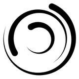 Спиральный элемент с концентрическими кругами Абстрактное декоративное elem Стоковое фото RF