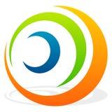 Спиральный элемент с концентрическими кругами Абстрактное декоративное elem Стоковое Фото