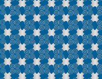 Спираль арабескы жемчуга решетки обоев на голубой предпосылке. иллюстрация штока