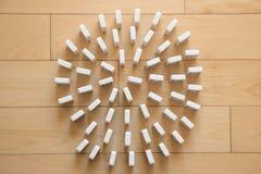 Спираль белых домино Стоковое Фото