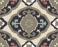 Спираль кривой красочной безшовной ретро картины полутонового изображения восточная Стоковая Фотография