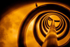 Спираль металла в апельсине Стоковое фото RF