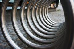 Спираль металла как абстрактная предпосылка Стоковые Фотографии RF