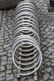 Спираль металла - шкафы велосипеда нержавеющей стали Стоковое Изображение
