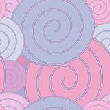 Спираль, пастельная безшовная картина Стоковое Изображение RF