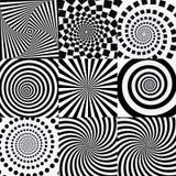 Спираль с влиянием вортекса Переплетенные футуристические влияния иллюстрация вектора