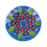 Спираль ягоды на плите Стоковые Изображения