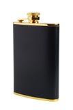 спиртное черное hipflask подсвинка питья Стоковое Изображение RF