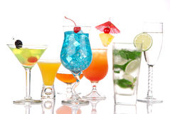 спиртное mojito martini маргариты коктеилов Стоковые Фотографии RF