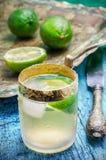 Спиртной коктеиль с добавлениями известки Стоковая Фотография