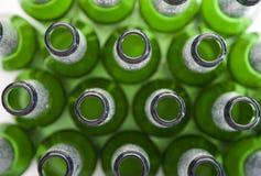 спиртные пить бутылок пива опорожняют Стоковое фото RF