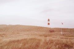 Список западный, Ellenbogen маяка, Sylt, Шлезвиг-Гольштейн, Германия Стоковое Фото