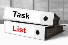 Список задач связывателей офиса Стоковое Фото
