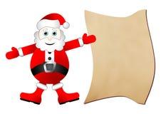 список подарка santa claus иллюстрация вектора