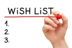 Список пожеланий стоковые изображения